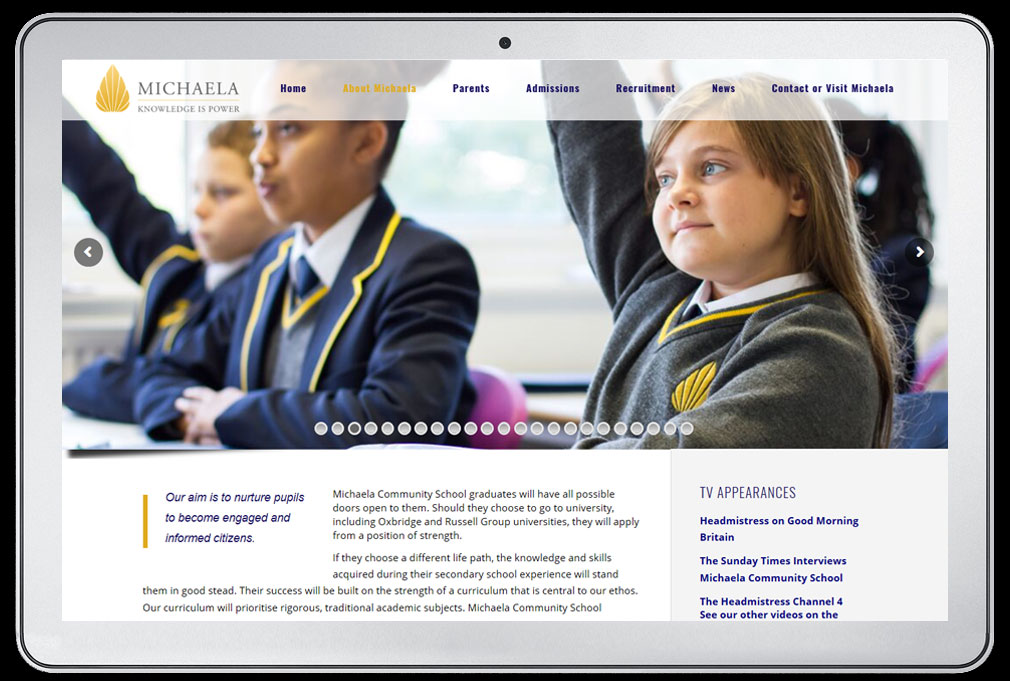 michaela community school website